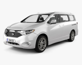 3D model of Nissan Quest 2011