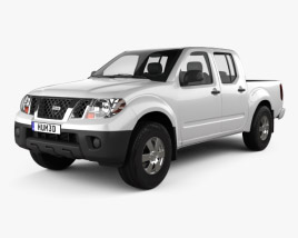 3D model of Nissan Frontier Crew Cab Short Bed 2012