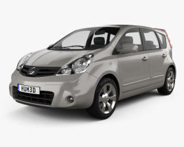 3D model of Nissan Note 2009