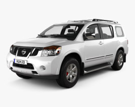 3D model of Nissan Armada 2012