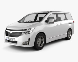 3D model of Nissan Elgrand (E52) 2012