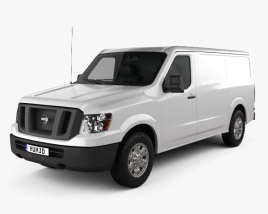 3D model of Nissan NV Cargo Van Standard Roof 2013