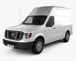 3D model of Nissan NV Cargo Van High Roof 2013
