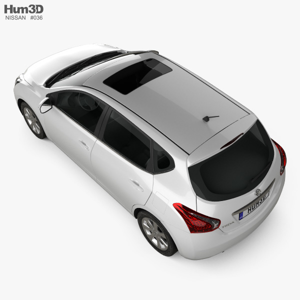 Nissan Tiida 2013 3D model