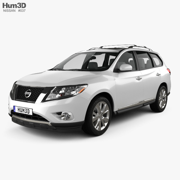 3D model of Nissan Pathfinder with HQ interior 2013