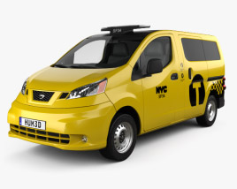 3D model of Nissan NV200 New York Taxi 2014