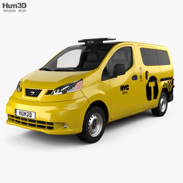 Nissan NV200 New York Taxi 2014 3D model