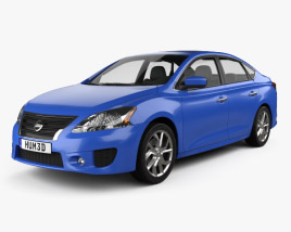 3D model of Nissan Sentra SR 2013