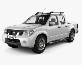3D model of Nissan Navara (D40) Double Cab 2010