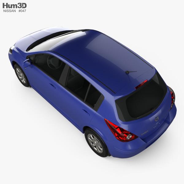 Nissan Tiida (C11) hatchback 2012 3D model
