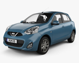 3D model of Nissan Micra 2014