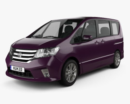 3D model of Nissan Serena Highway Star 2013