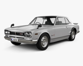 3D model of Nissan Skyline (C10) GT-R Coupe 1970