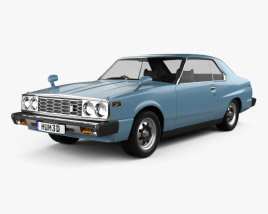 3D model of Nissan Skyline (C210) GT Coupe 1977