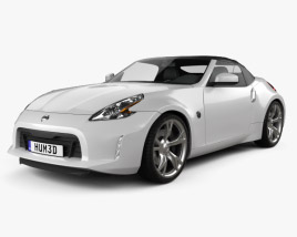 3D model of Nissan 370Z roadster 2013