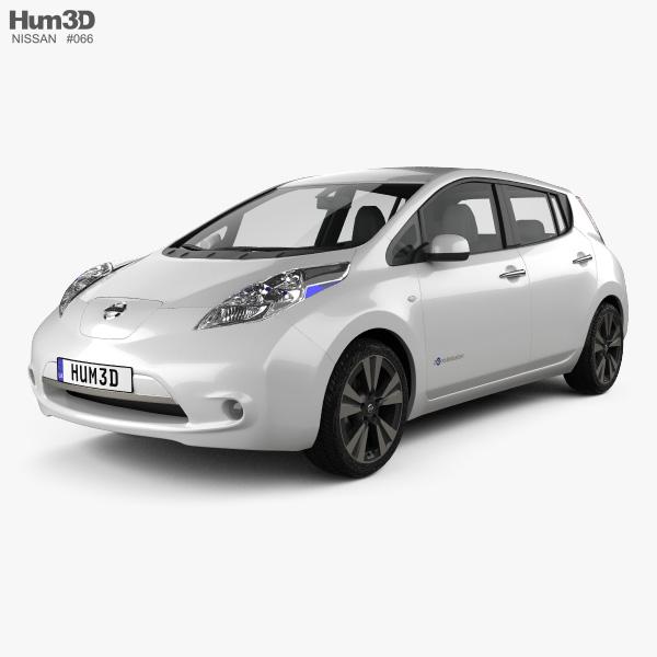 3D model of Nissan Leaf 2013