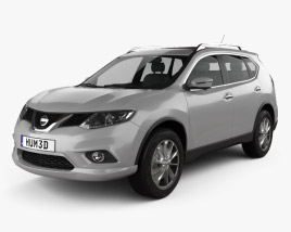 3D model of Nissan Rogue 2014