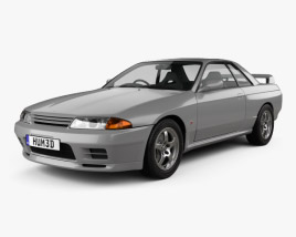 3D model of Nissan Skyline (R32) GT-R coupe 1989
