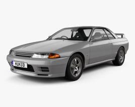 Nissan Skyline (R32) GT-R coupe 1989 3D model