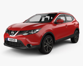 3D model of Nissan Qashqai 2014