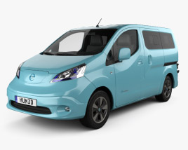 3D model of Nissan e-NV200 Evalia 2014