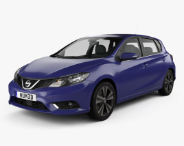 Nissan Pulsar hatchback 2014 3D model