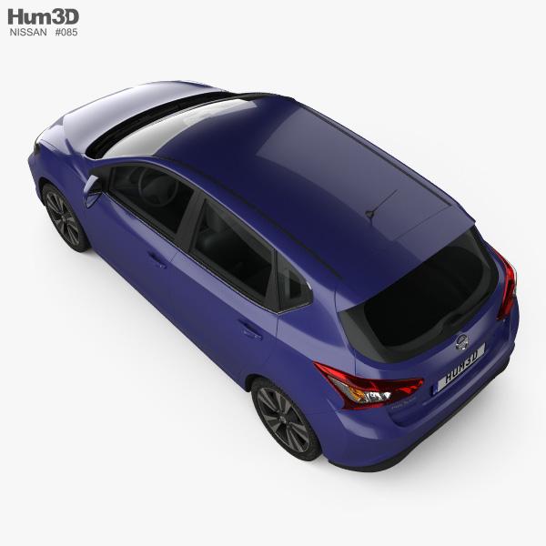 Nissan Pulsar hatchback 2014 3D model