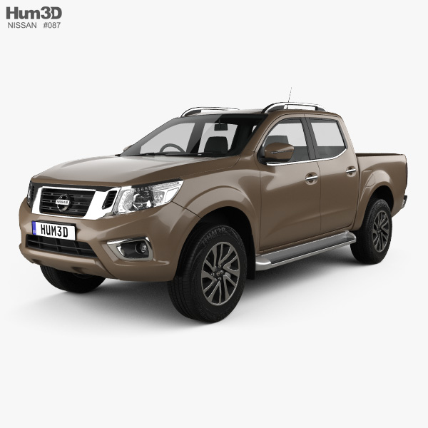 3D model of Nissan Navara Double Cab 2015