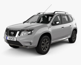 3D model of Nissan Terrano 2013