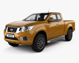 3D model of Nissan Navara King Cab 2015