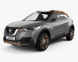 3D model of Nissan Kicks Concept 2014
