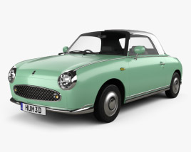 3D model of Nissan Figaro 1991