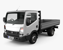 3D model of Nissan NT400 Dropside Truck 2014