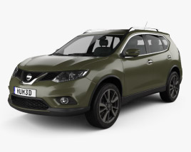 3D model of Nissan X-Trail 2015