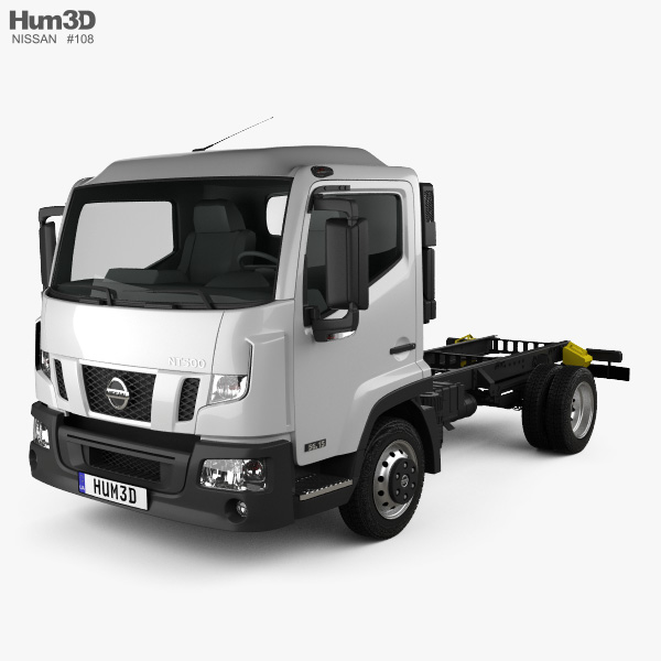 3D model of Nissan NT 500 Chassis Truck 2014