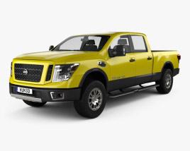 3D model of Nissan Titan Crew Cab XD Pro 4X 2016