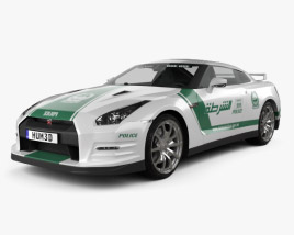 3D model of Nissan GT-R (R35) Police Dubai 2013