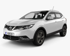 3D model of Nissan Qashqai 2016