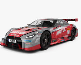 3D model of Nissan GT-R Nismo GT500 2015