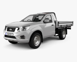 3D model of Nissan Navara Cab Alloy Tray 2015