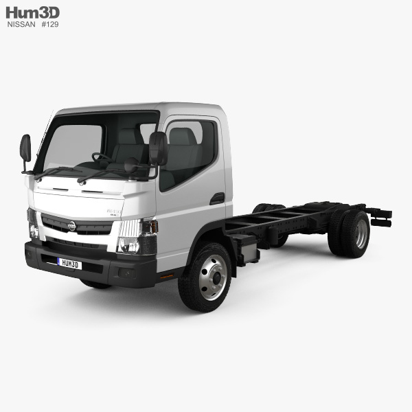3D model of Nissan Atlas Chassis Truck 2012