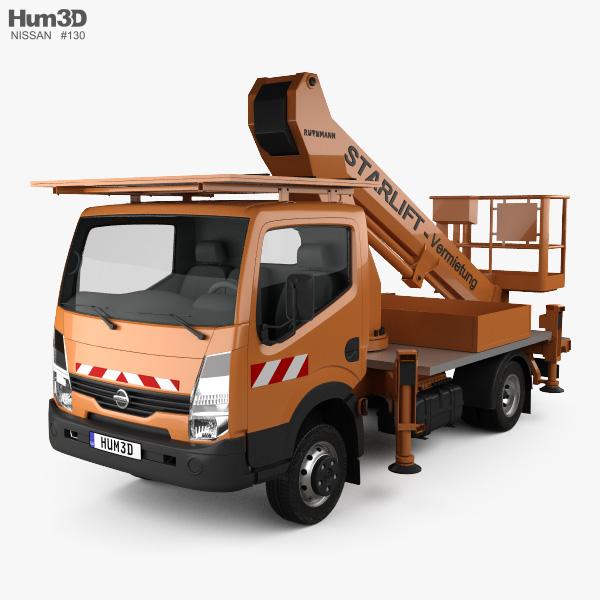 3D model of Nissan Cabstar Lift Platform Truck 2006