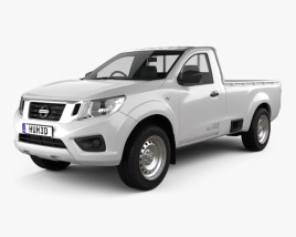 3D model of Nissan Navara Single Cab 2015