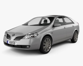 3D model of Nissan Primera hatchback 2002