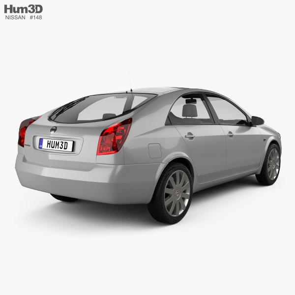 Nissan Primera hatchback 2002 3D model