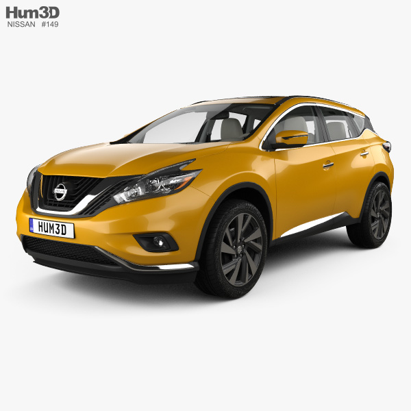 3D model of Nissan Murano (Z52) with HQ interior 2014