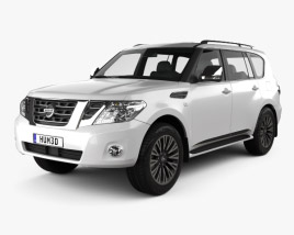 3D model of Nissan Patrol (AE) 2014