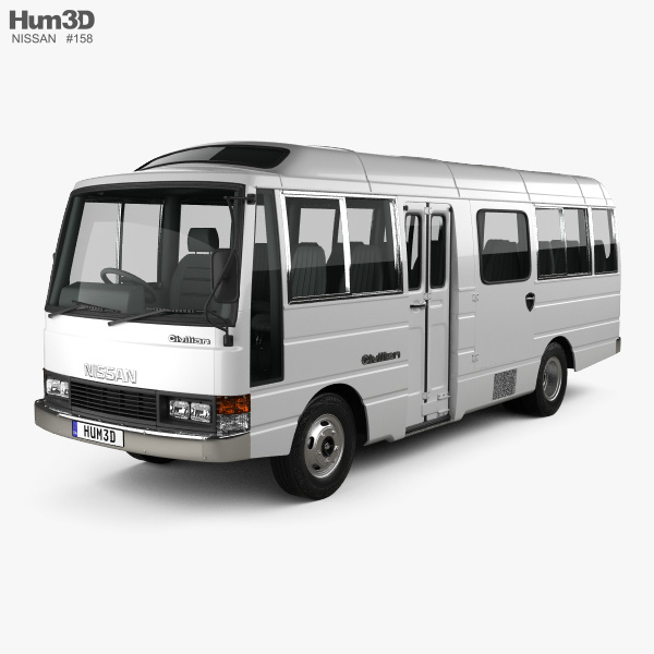 Nissan Civilian SWB Bus 1982 3D model