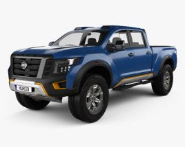 3D model of Nissan Titan Warrior 2016