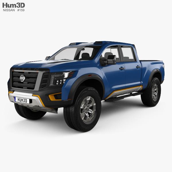 3D model of Nissan Titan Warrior 2016